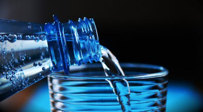 bottiglia, acqua,
