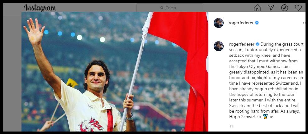 Roger Federer, Instagram